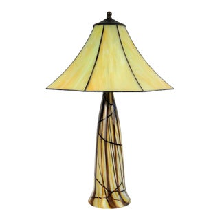 Art Glass Table Lamp, C. 1977 For Sale