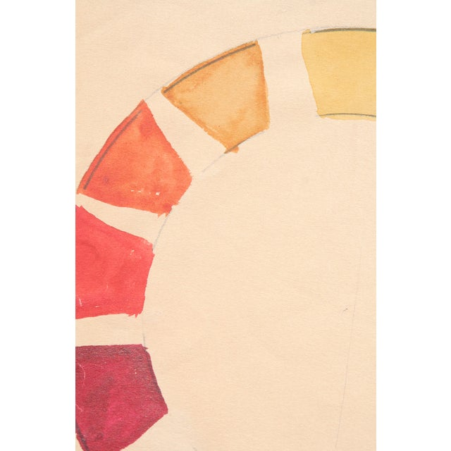 Watercolor Color Wheel by Kathryn Bernard For Sale - Image 5 of 5