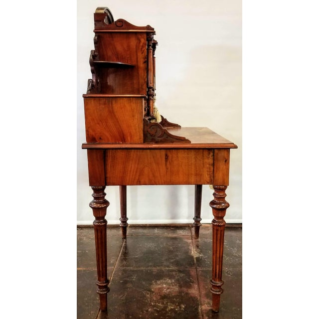 Auburn North German Gründerzeit Period Writing Desk in the Form of Historicism With Neoclassic Decoration For Sale - Image 8 of 9