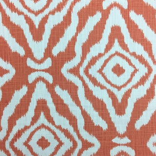 Scalamandre Orange & Blue Fabric For Sale