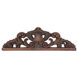 19th Century French Louis XVI Wooden Carved Pediment For Sale