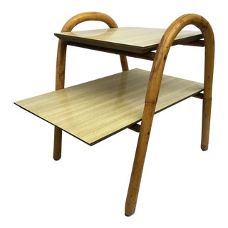 j.b. Van Sciver Co. Rattan End Table For Sale
