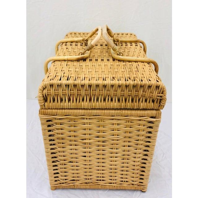 Wicker Woven Wicker Filing Box For Sale - Image 7 of 12