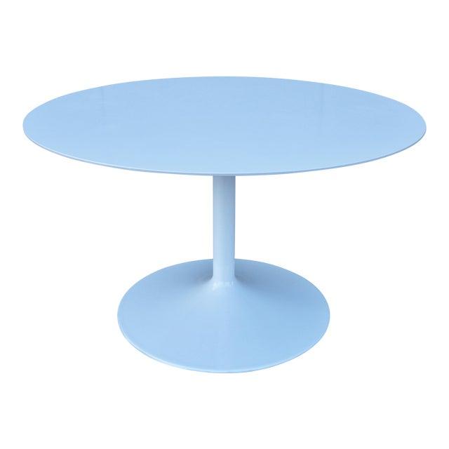 """1950s Mid-Century Modern Eero Saarinen Style 48"""" Round White Top Tulip Dining Table - Image 1 of 13"""