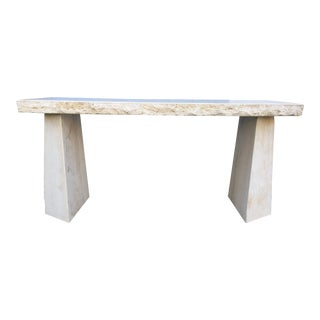 Vintage Travertine Console Table