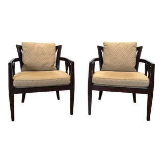 Modern Baker Barbara Barry Double X-Back Chairs- A Pair For Sale
