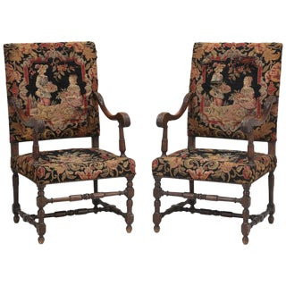 Antique French Pair of Armchairs Late 1800's For Sale