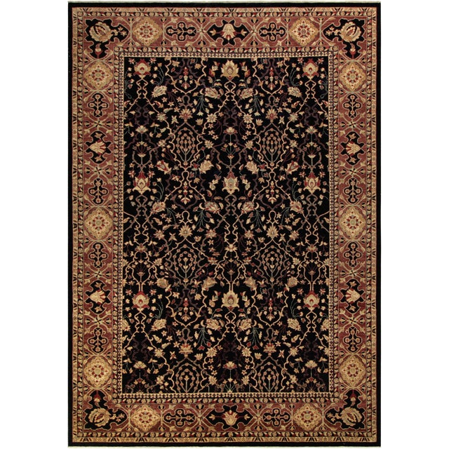 "Kafkaz Peshawar Erma Blue & Aubergine Wool Rug - 10' x 13'10"" For Sale"