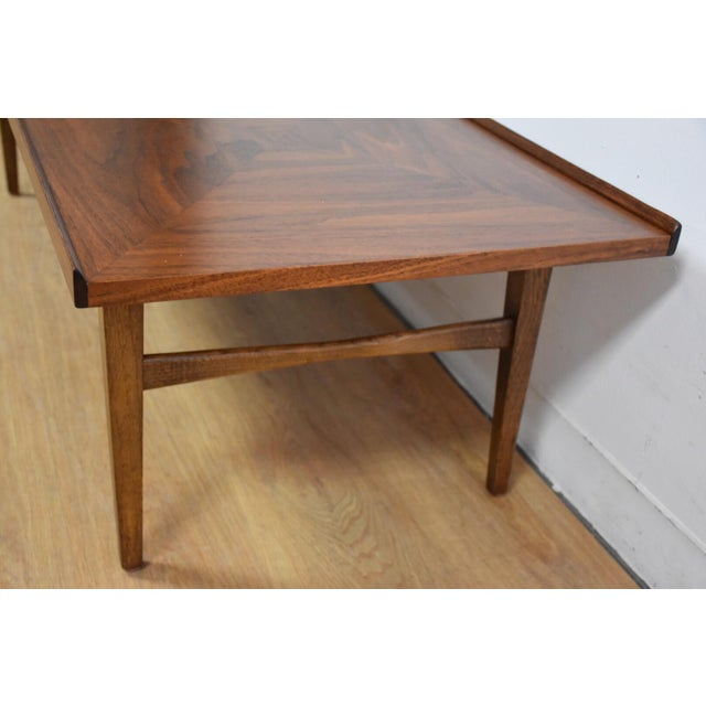 Walnut and Rosewood Coffee Table - Image 4 of 7