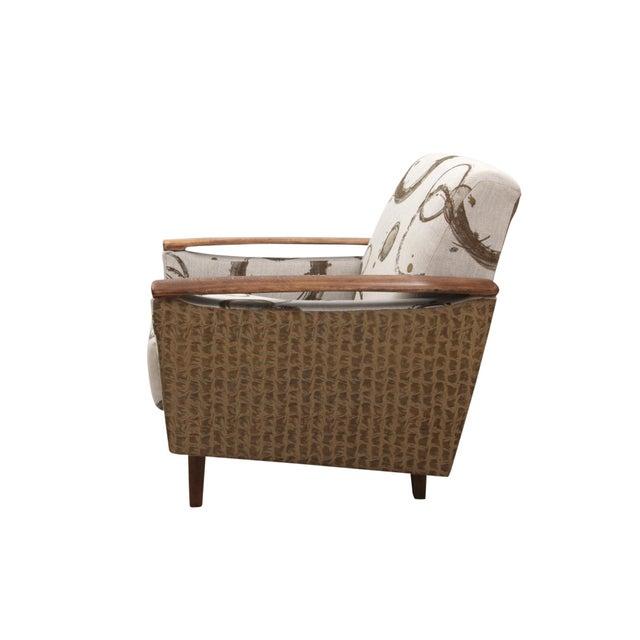 Kravet Kravet Upholstered Mid Century Modern Armchairs - a Pair For Sale - Image 4 of 8
