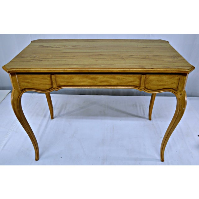 French-Style Cabriole Leg Writing Desk For Sale - Image 9 of 9