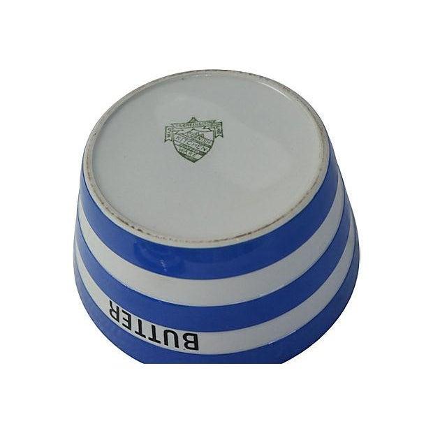 Vintage English Cornishware Butter Tub - Image 3 of 3