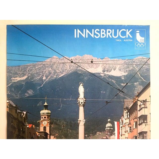 "This rare original vintage 1976 "" Innsbruck Tirol Olympics Winter Games "" offset lithograph print Austria Travel Poster is..."