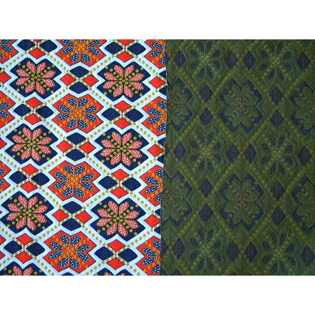 Rare 1960s Knit Heavy Weight Crimplene Fabric For Sale - Image 4 of 8