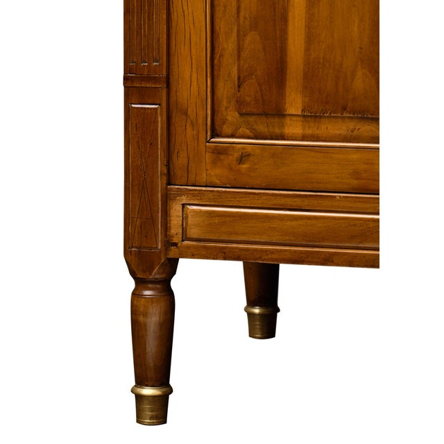 Antique French Louis XVI Style Walnut Buffet For Sale - Image 9 of 10