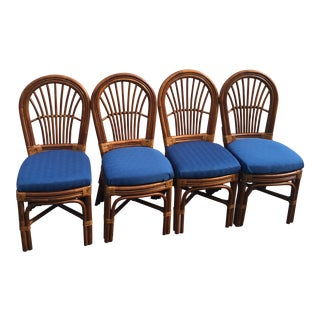Vintage Bamboo Chairs - Set of 4