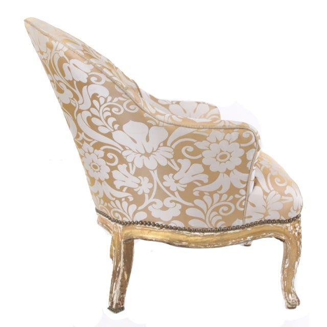 French Antique Napoleon III Armchair - Image 3 of 7