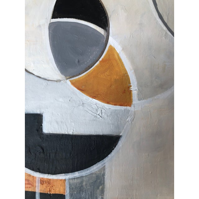 Paint Contemporary Modernist Shapes Abstract Acrylic Painting For Sale - Image 7 of 8