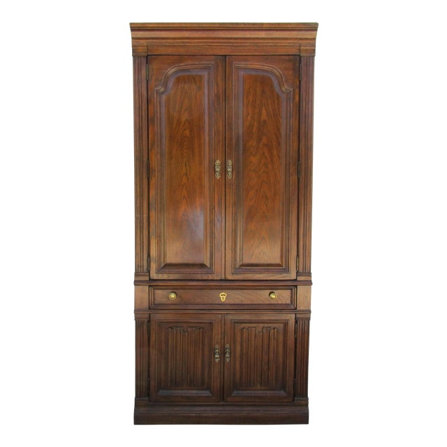 Drexel Lighted Bar Cabinet With Wine Rack - Image 2 of 12