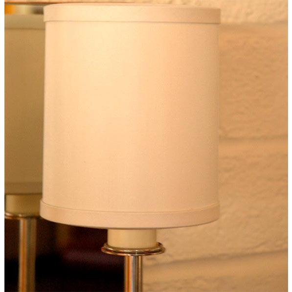 Modern Paul Marra Two-Arm Mirror Back Sconce For Sale - Image 3 of 6
