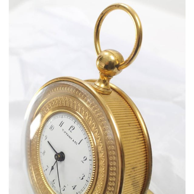 Tiffany Vintage Bronze Travel Alarm Clock For Sale In New York - Image 6 of 7