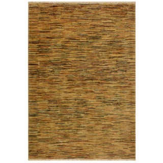 Gabbeh Belle Tan/Multi Wool Area Rug -4'0 X 5'9