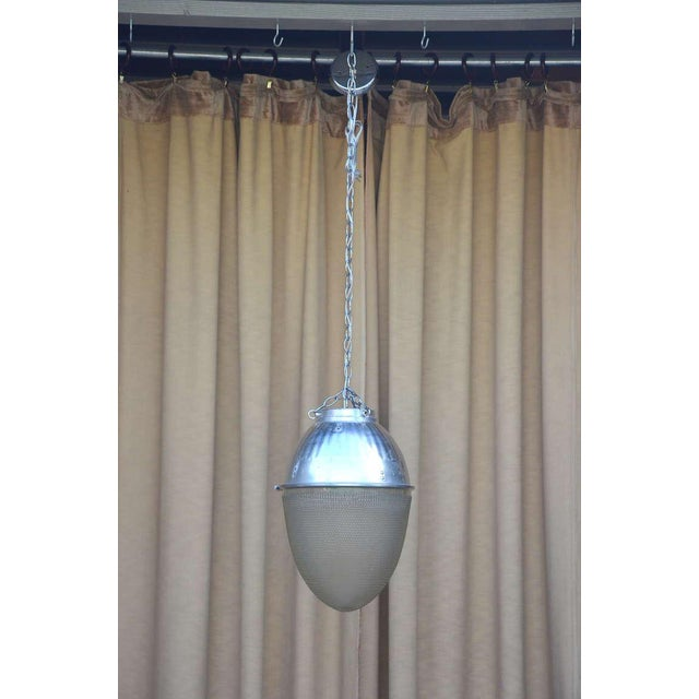 Silver Single Hanging Pendant Industrial Street Light For Sale - Image 8 of 8