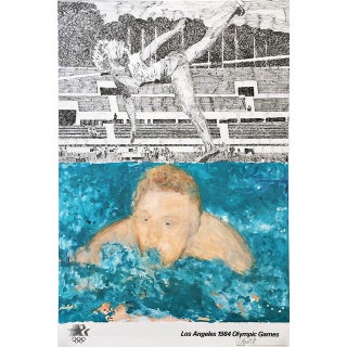 "Jennifer Losch Bartlett ""Los Angeles 1984 Olympic Games"" Hand Signed Limited Edition Poster For Sale"