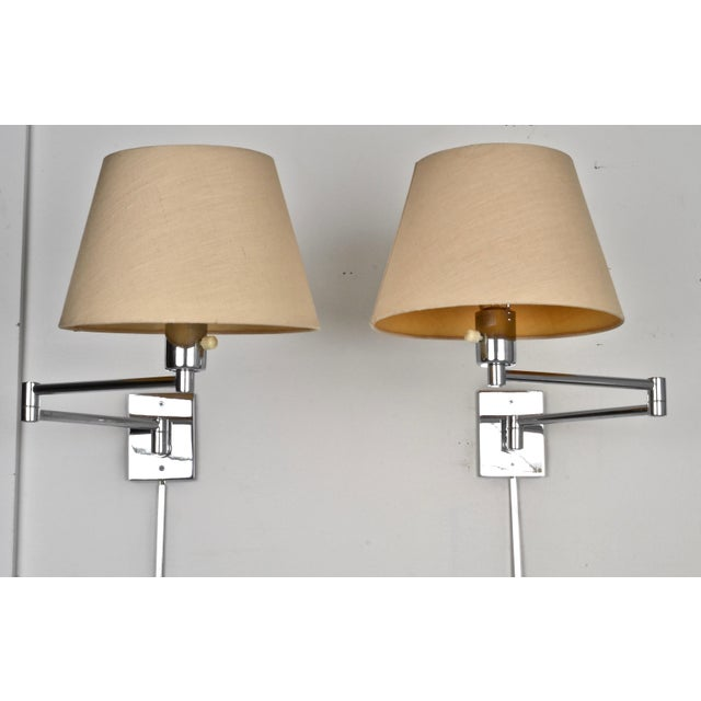 Hansen Chrome Swing Arm Sconces, 1970s For Sale In New York - Image 6 of 8