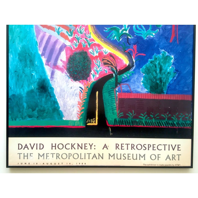 Rare vintage 1988 david hockney lithograph print met for Metropolitan museum of art exhibitions