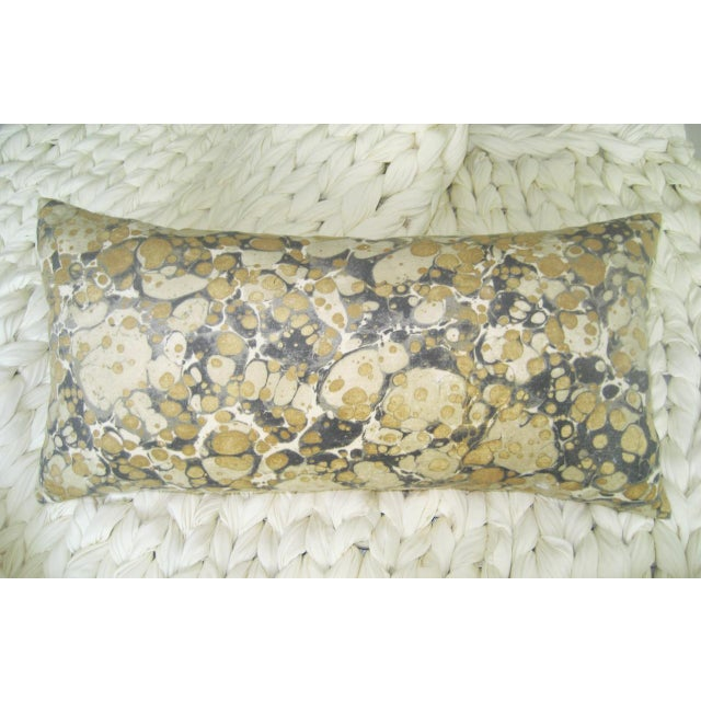 Contemporary Jonathan Adler Fabric Yellow & Brown Lumbar Pillow For Sale - Image 3 of 3