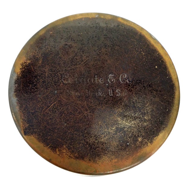 Colgate & Co Antique Brass Canister For Sale - Image 4 of 7