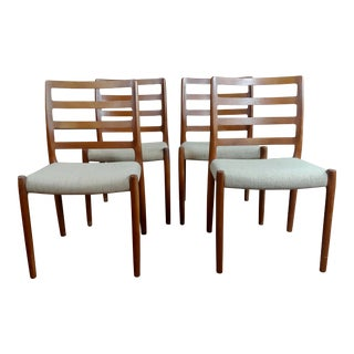 1960s Danish Mid Century Modern Teak Chairs - Set of 4 For Sale