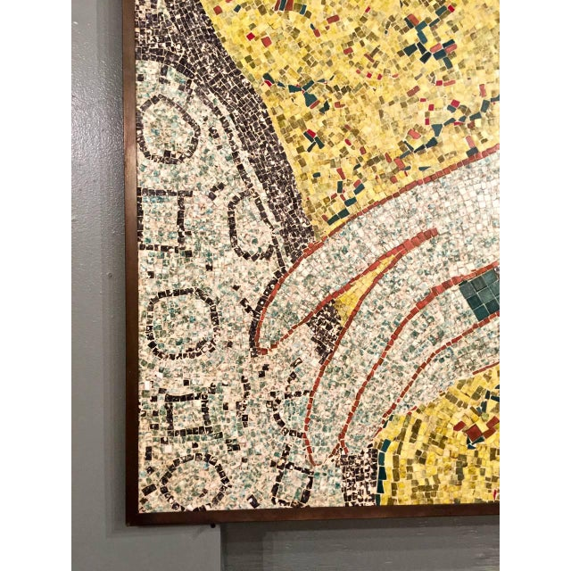 This is a large detailed mosaic of a female hand executed in the ancient Egyptian style. The mosaic dates to the mid-20th...