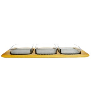 Digsmed Denmark Mid Century Modern 3-Part Snack Tray For Sale