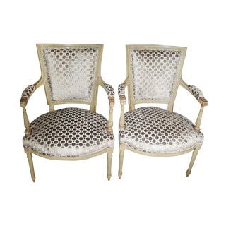 Early 19th C. Directoire Fauteuils - a Pair For Sale