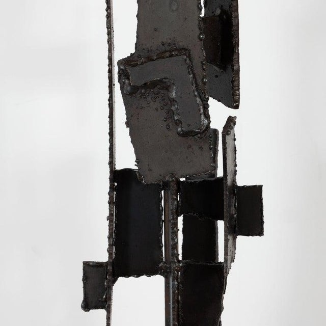 Brutalist Mid-Century Brutalist Iron Mosaic Table Lamps by Harry Balmer for Laurel Company - a Pair For Sale - Image 3 of 9