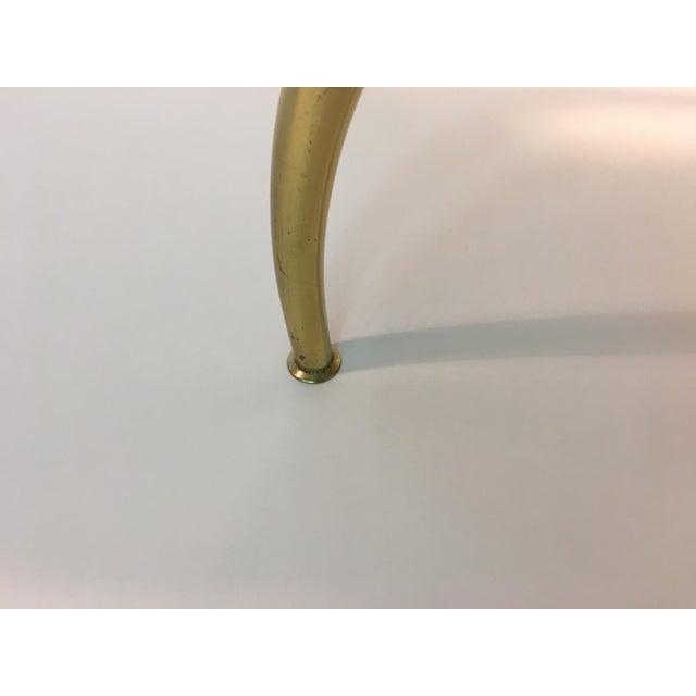 1960s Stunning Italian Modernist Polished Brass Vanity Stool For Sale - Image 5 of 7