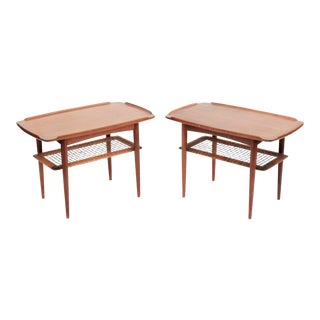 1960s Danish Modern Poul Jensen for Selig Side Tables - a Pair For Sale