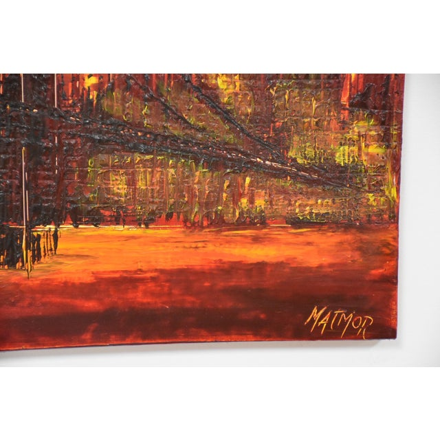 New York City Impressionist Oil Painting For Sale In Boston - Image 6 of 7