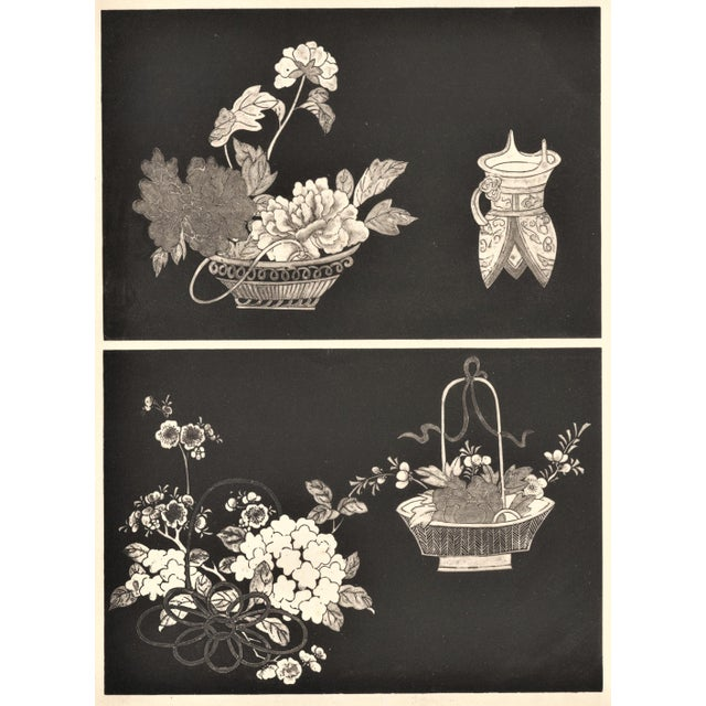 Art Deco Asian Botanical Design Print - Image 3 of 5