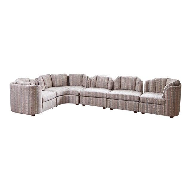 Mid-Century Henredon 5 Piece Sectional Sofa For Sale