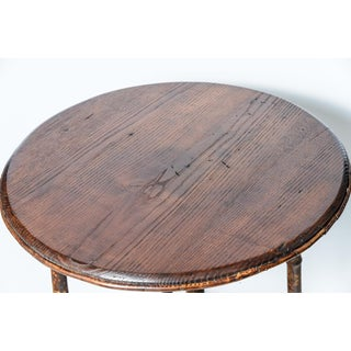 1930s Scorched Root Bamboo Round Two Tier Side Table Preview