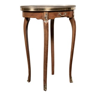 20th Century Louis XV Style Oval Kingwood Bouillotte Table For Sale