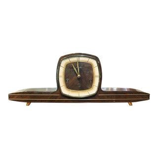 Mid Century Modern Mauthe German Mantle Clock For Sale