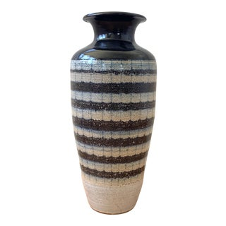 Vintage Ceramic Glazed Vase For Sale