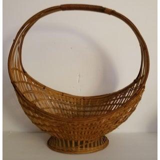 Vintage Vintage Circular Basket Woven Bread or Fruit Basket Preview