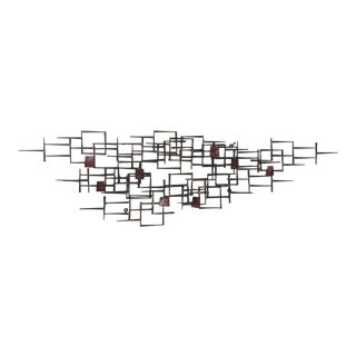 Mid-Century Modern Brutalist Nail Wall Sculpture For Sale