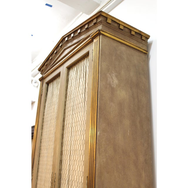 Monumental Neoclassical Revival Style Pedimented Wood Cabinets - a Pair For Sale - Image 12 of 13