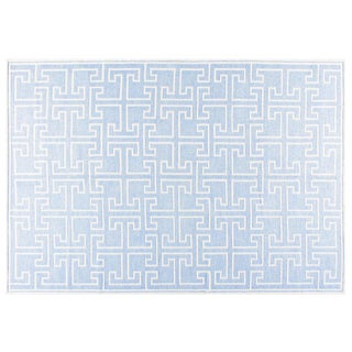 "Stark Studio Rugs Contemporary Linen Soumak Rug - 6'1"" X 8'11"" For Sale"